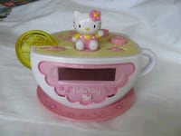 Hello kitty teacup alarm clock w lemon nightlight Blainville, J7C 5S4