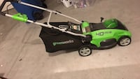 Electric lawn mower, weed eater/edger and rechargeable battery