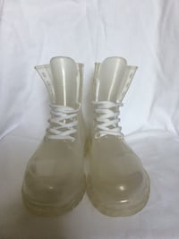 Clear Jelly Lace-up Boots