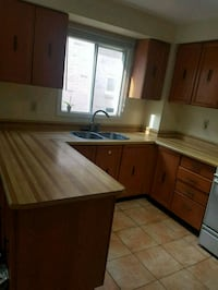 Kitchen cabinets minus countertop  Pickering