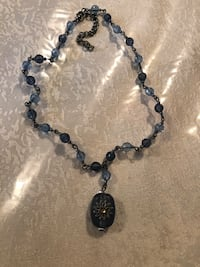 Blue beaded necklace Toronto, M9N 3L4