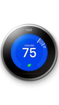 Round Chrome Nest learning thermostat Los Angeles, 91040