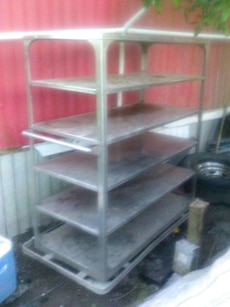 stainless steel serving/restaurant cart
