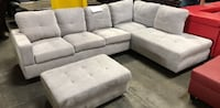 Gray sectional couch and ottoman West Sacramento, 95691