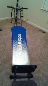 blue, white and black Total Gym inversion table Dallas, 30132