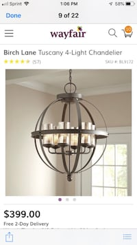 black metal framed glass pendant lamp Accokeek, 20607