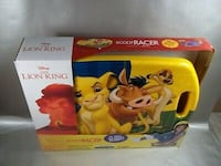NIB DISNEY THE LION KING SCOOT RACER RIDING TOY SIT KNEEL OR SCOOT