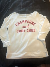 Champagne and Candy Canes top