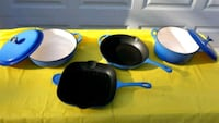6 PIECE CAST IRON COOKWARE  Brandenburg, 40108