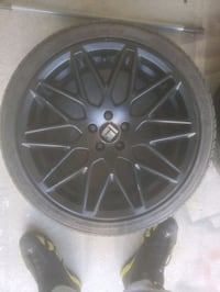 """18"""" Matte black rims WITH new racing tires  Toronto, M9N"""