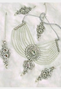 Crystal pearl bridal set choker earring tikka with Laval, H7W 2Z9