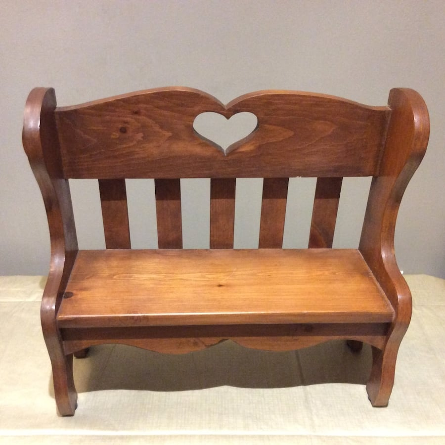 Double bench for dolls or stuffed animals