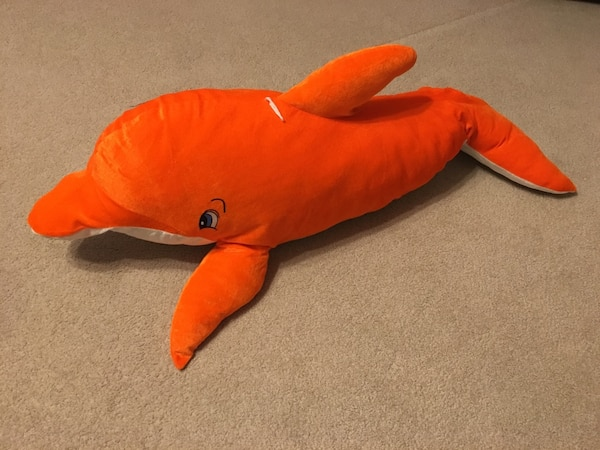 Used Large 36 Orange Dolphin Stuffed Animal For Sale In Scott Letgo