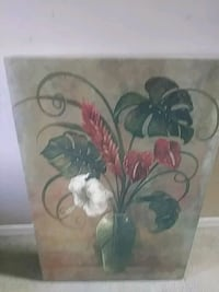 pink and blue flowers painting Ocala, 34472