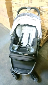baby's black and gray stroller and car seat  Surrey, V4N 4H4