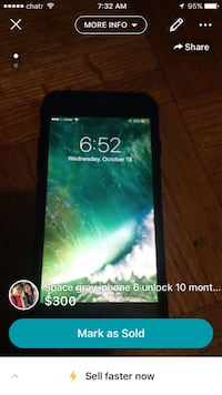 I phone 6 black 16 gb