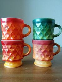 Vintage Kimberly Fire King mugs