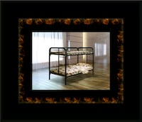 Twin bunkbed frame with mattress Ashburn