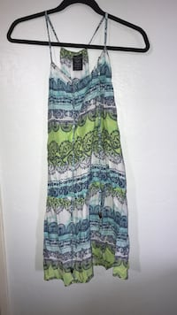 women's teal and green spaghetti strap mini dress Spring Valley, 91977