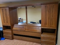 brown wooden cabinet with mirror Burnaby, V3N