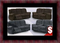 Grey or chocolate recliner set Adelphi