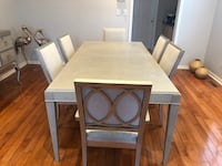 rectangular brown wooden table with four chairs dining set Milton, L9T 5Z3