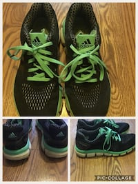 Woman's Black and Mint Adidas Running shoes2014 717 km