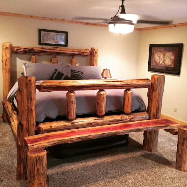 Used 100% Handmade Cedar Log Bed Frames and Furniture for sale in ...