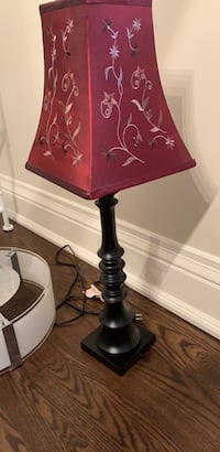 TABLE LAMP RED SHADE  Toronto, M9A 3H6