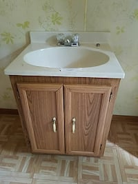 *Bathroom sink and vanity. Must move Lewiston, 04240