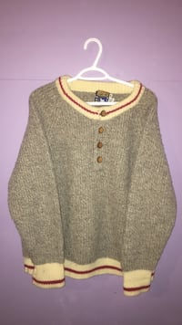 gray and beige knitted sweater Calgary, T2M 1P6