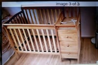 Baby Crib & Changer Station with draws Burke, 22015