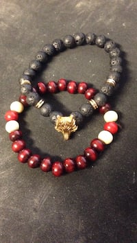 two beaded red and black bracelets Albuquerque, 87106