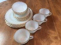 Vintage Anchor Hocking White and gold Dinnerware Calgary, T2W 2H7