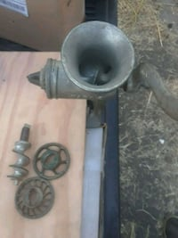 Old time meat and veg. grinder w/acessories
