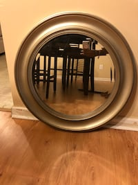 round wall mirror with grey frame Lithonia, 30038