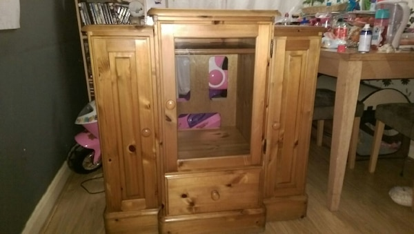 Used Ducal Solid Oak Either Display Or Hi Fi Cabinet For Sale In