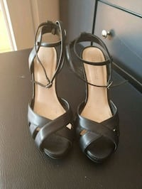 Black leather strappy heels  Vaughan, L6A 2E9
