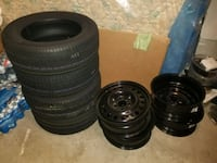 four black vehicle tires set   [PHONE NUMBER HIDDEN] H Brampton, L6Y 4S1