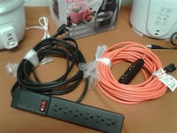 white and red corded electronic device 536 km