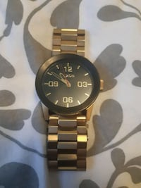 $180Authentic Nixon 51-30 Chrono Watch - Gold Tone Edmonton, T6J 1L1