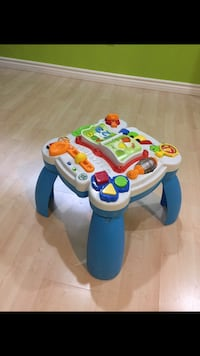 baby's white and blue activity table Richmond Hill, L4E 3P6