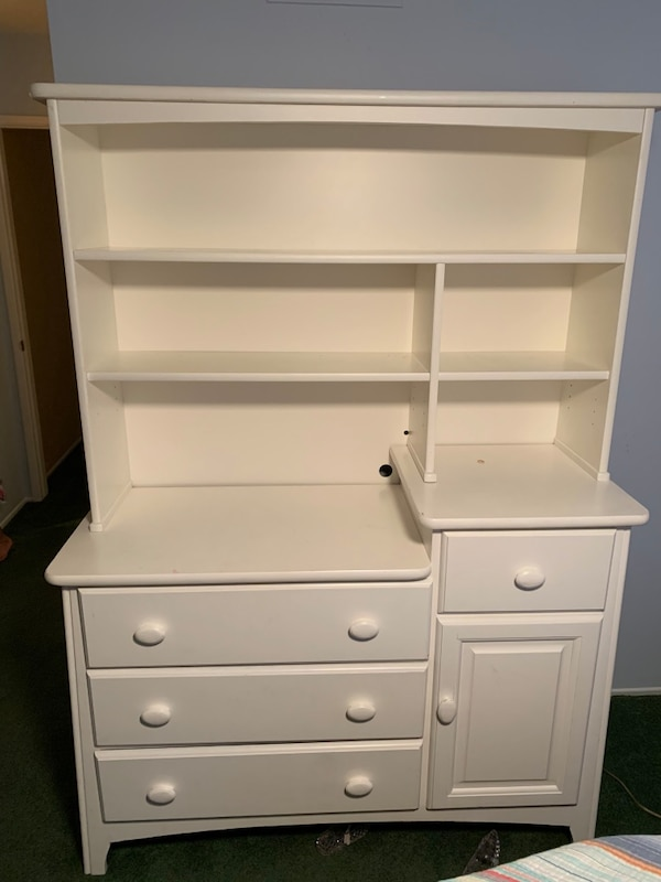 Changing Table Dresser With Removable Hutch