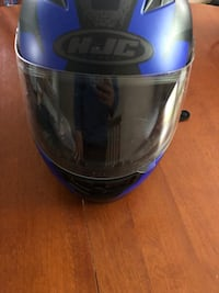 Motorcycle helmet blue gray and black price is negotiable Carbondale, 18407