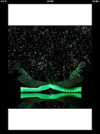 black and green sneakers with lighting sole Dallas, 75217