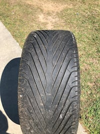 305/35 R24 tire.  Decent tread, NOT SURE IF IT HOLDS AIR, but I'm sure any holes can be patched.   Sylvester, 31791