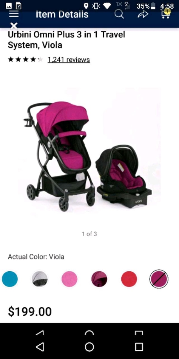 Infant Girl Car Seat And Stroller Combo