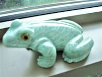 NEGOTIABLE - AMAZONITE ANTIQUE HAND CRAFTED FROG, PAPER WEIGHT, STATUETTE