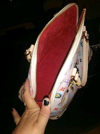 white and pink leather crossbody bag Albuquerque, 87108