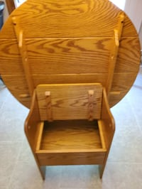 Oak table converts to Deacons bench